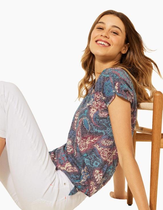 CECIL Ausbrenner-Shirt mit Allover-Print | ADLER Mode Onlineshop