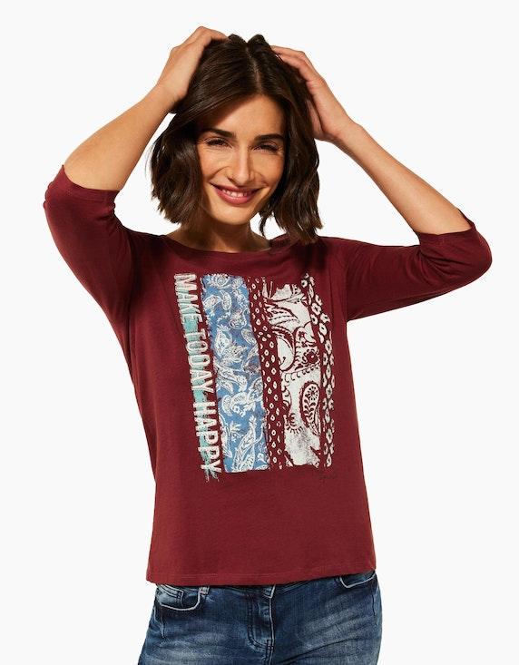 CECIL Shirt mit Mustermix und Wording | ADLER Mode Onlineshop