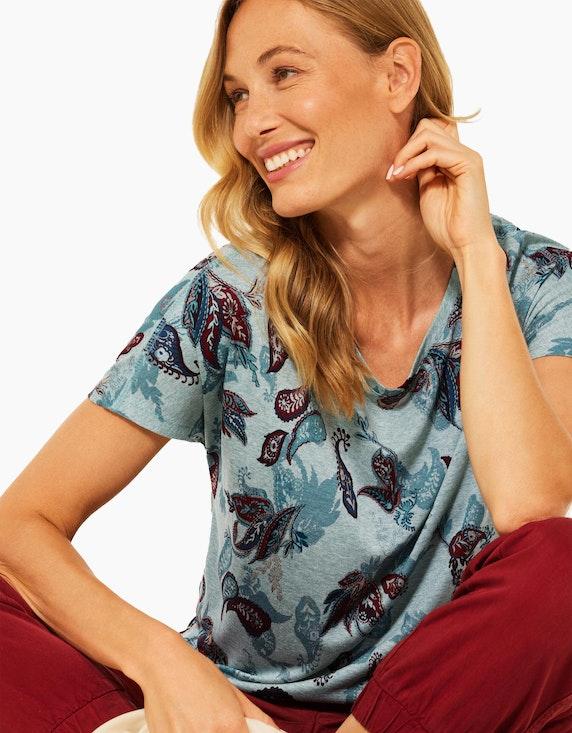 CECIL Gemustertes Shirt in Melange-Optik | ADLER Mode Onlineshop