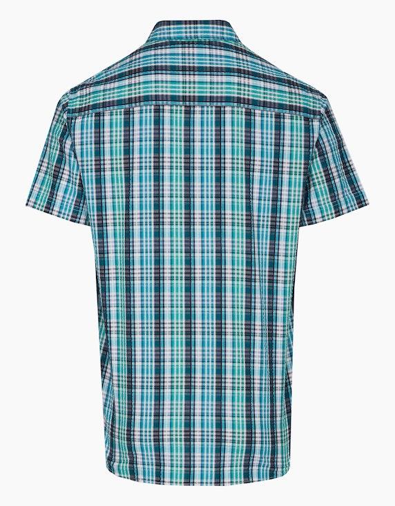 Eagle Denim Seersucker-Hemd mit Button Down-Kragen | ADLER Mode Onlineshop