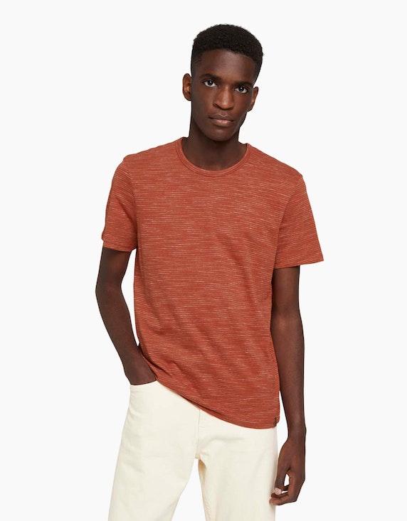 Tom Tailor Fein gestreiftes T-Shirt | ADLER Mode Onlineshop