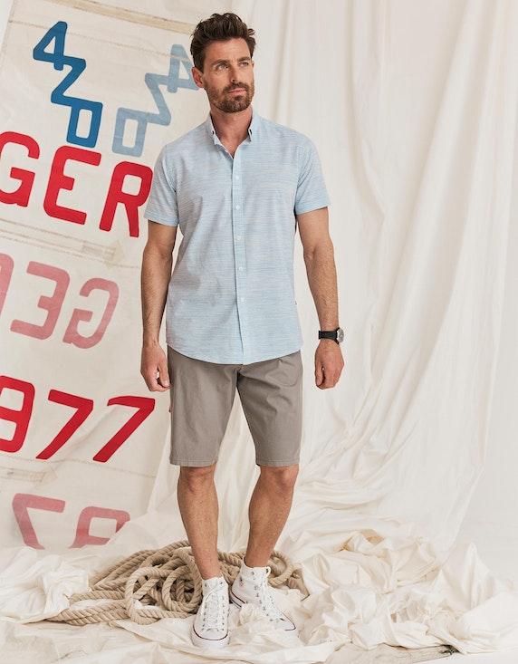 Via Cortesa Hemd mit Streifenmuster und Button Down-Kragen in Hellblau/Weiß   ADLER Mode Onlineshop