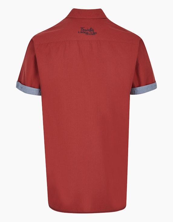 Bexleys man Freizeithemd mit feinem Streifen und Stickerei, REGULAR FIT | ADLER Mode Onlineshop