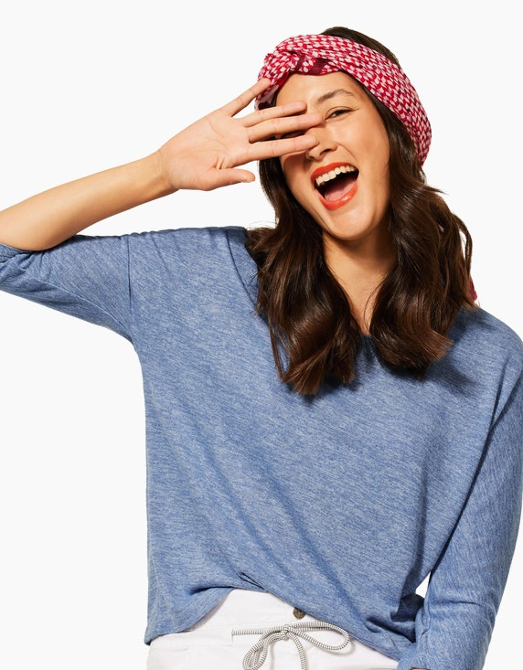 Street One Shirt in Melange-Optik | ADLER Mode Onlineshop