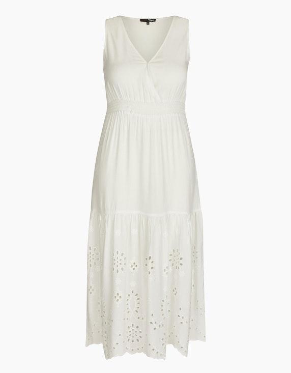 MY OWN Ärmelloses Kleid mit Lochstickerei in Weiß | ADLER Mode Onlineshop