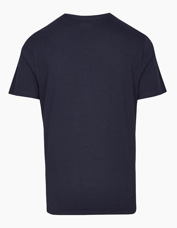 Bexleys man Unifarbenes T-Shirt mit platziertem Druck | ADLER Mode Onlineshop