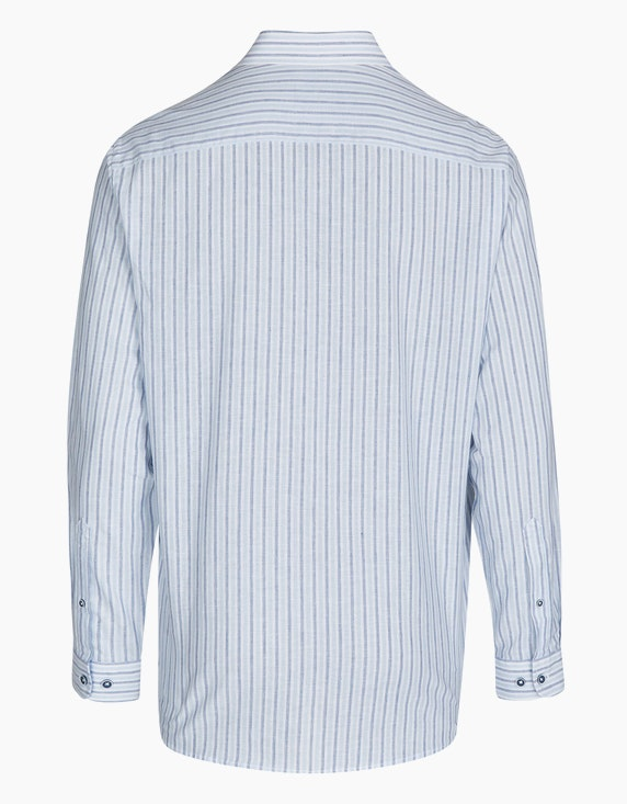 Bexleys man Gestreiftes Freizeithemd mit Leinenanteil, REGULAR FIT | ADLER Mode Onlineshop