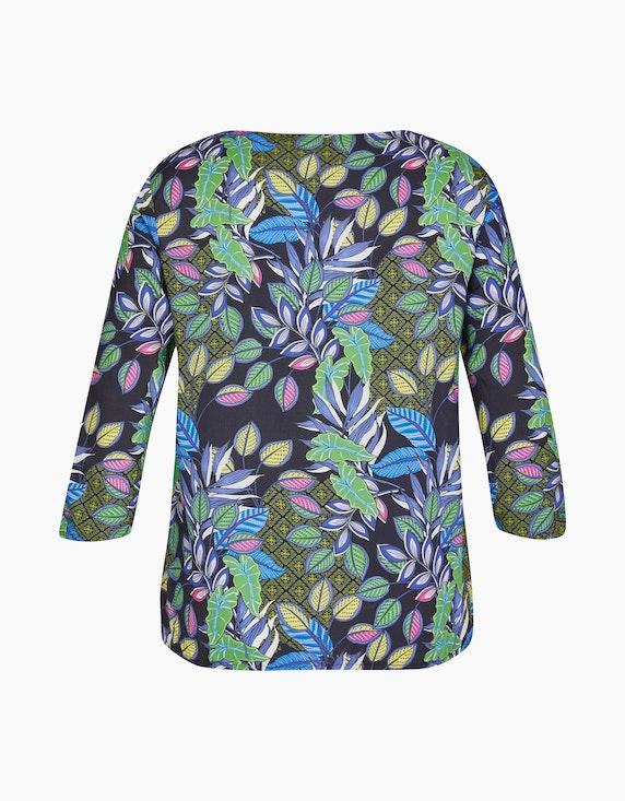 Steilmann Woman Schlupfbluse mit Blätterdruck   ADLER Mode Onlineshop