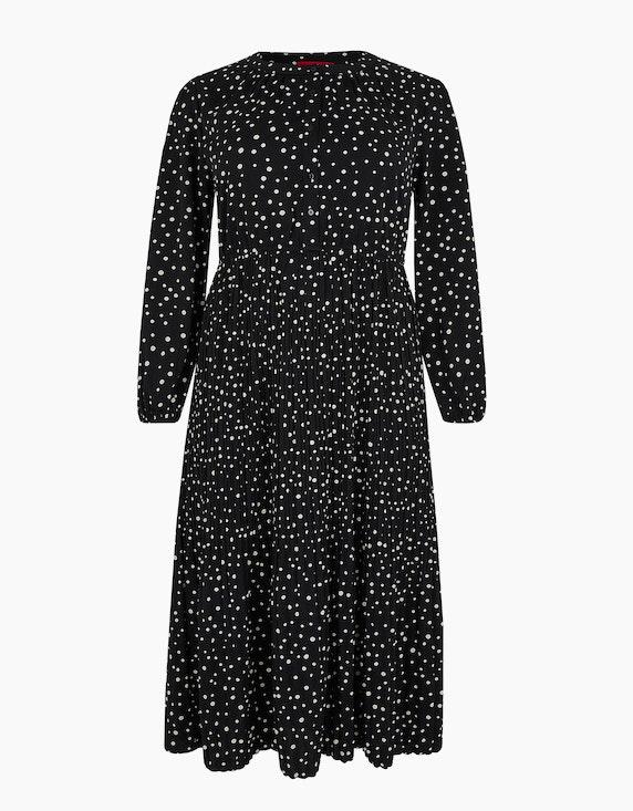 Thea Maxi-Kleid mit Punkten in Schwarz | ADLER Mode Onlineshop