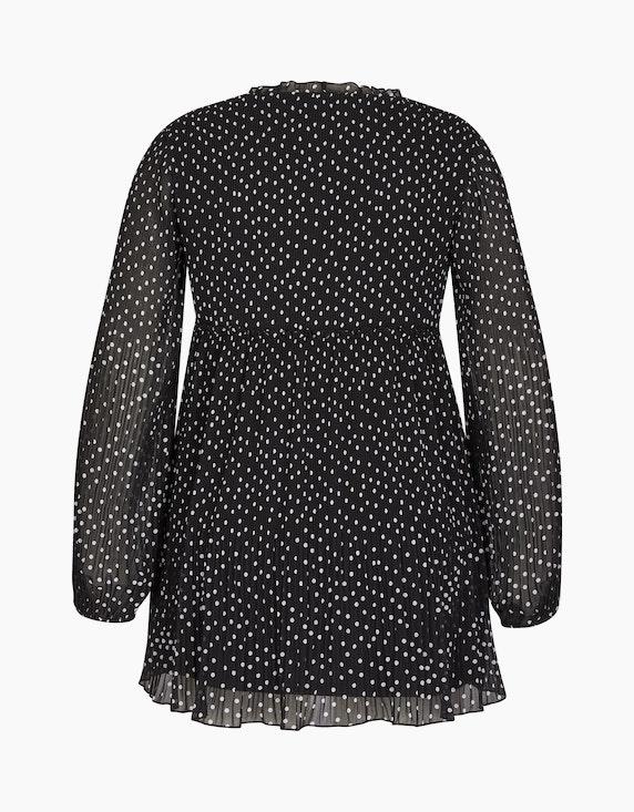 MY OWN Plissee-Bluse mit Rüschen-Details und Punkten   ADLER Mode Onlineshop