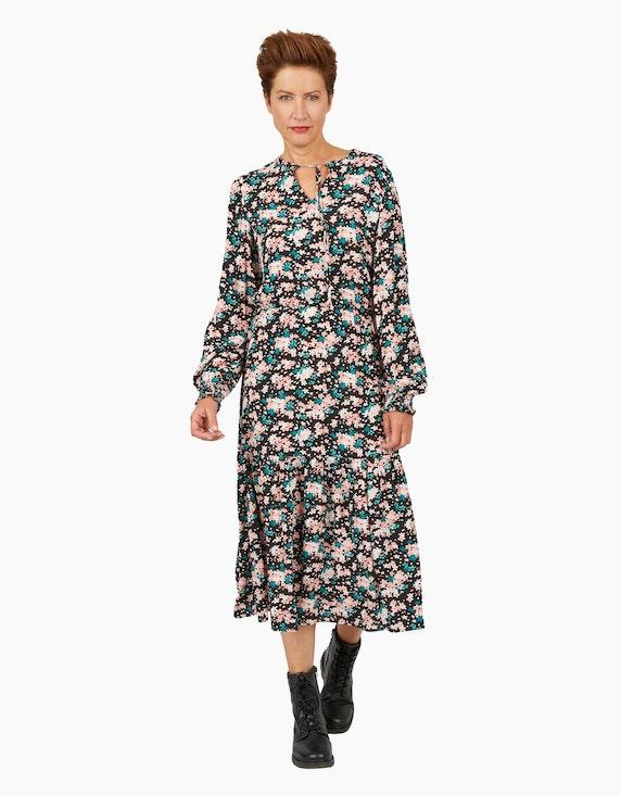 Viventy Kleid mit blumigem Alloverprint und Trompetenärmeln   ADLER Mode Onlineshop