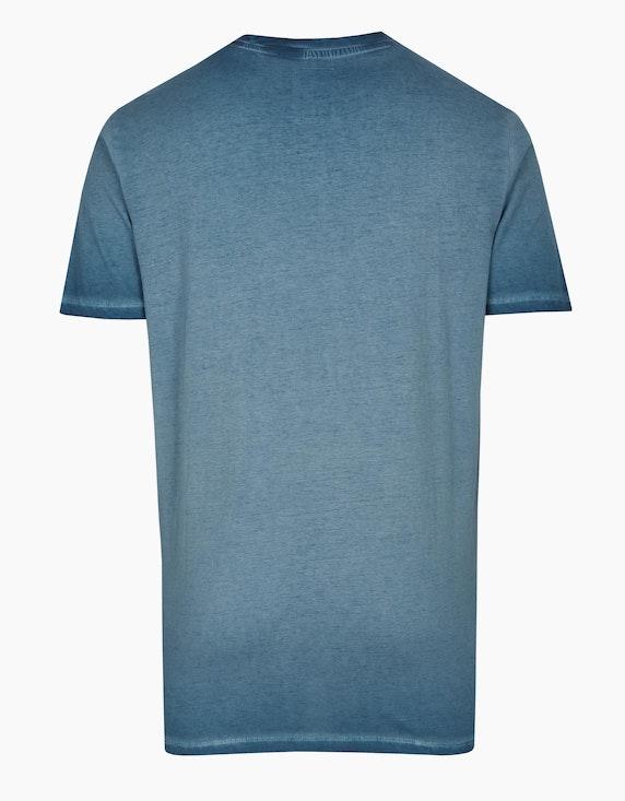 Eagle Denim T-Shirt mit Wording-Print | ADLER Mode Onlineshop