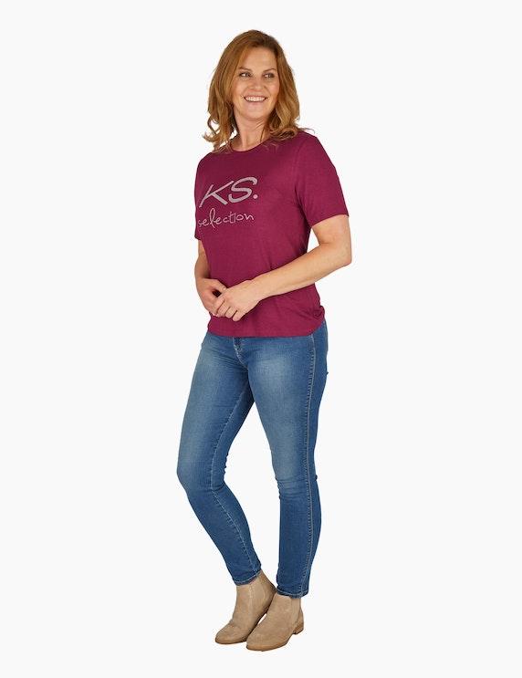 KS. selection Shirt mit Strass-Label | ADLER Mode Onlineshop