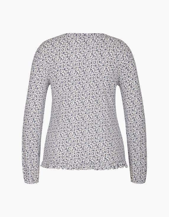 Via Cortesa Shirt mit Allover-Muster und Rüschensaum | ADLER Mode Onlineshop