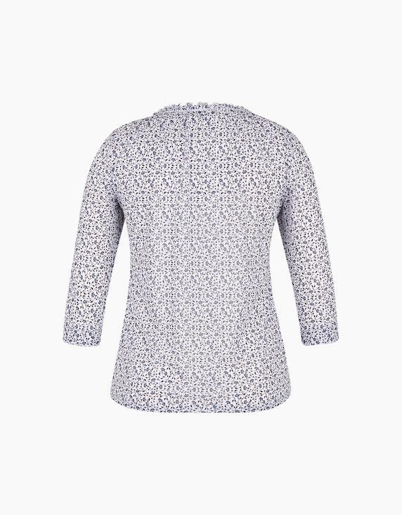 Via Cortesa Shirt mit floralem Allover-Muster | ADLER Mode Onlineshop