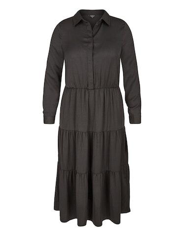 Produktbild zu Satin-Stufenkleid mit Hemdkragen von Bexleys woman