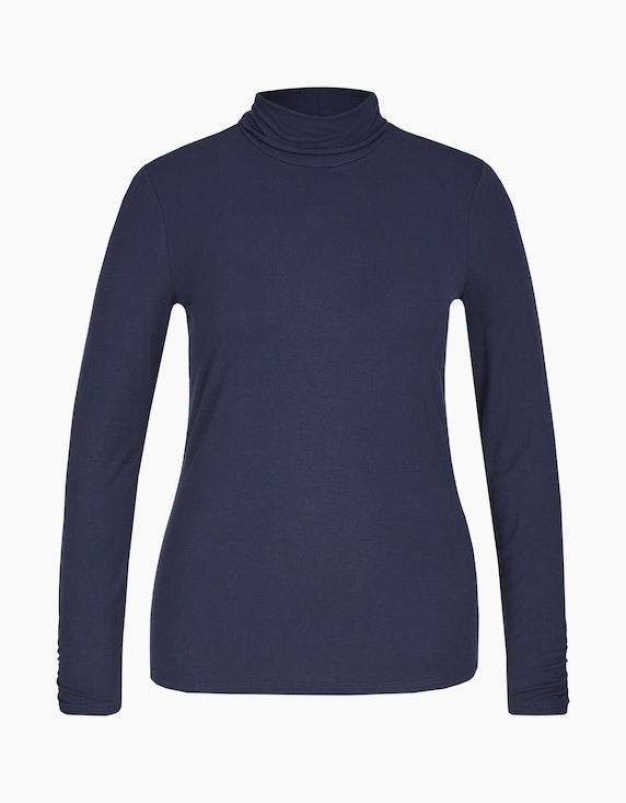MY OWN Basic-Shirt mit Rollkragen in Bordeaux | ADLER Mode Onlineshop