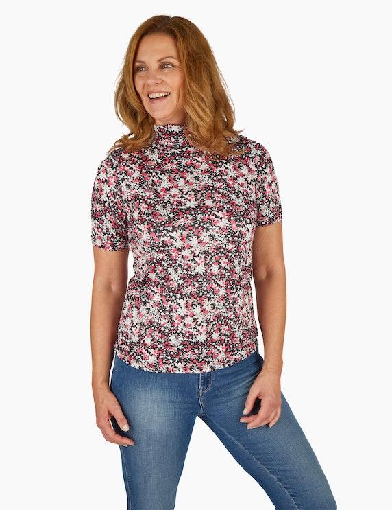 MY OWN Mille-Fleurs-Shirt mit Rollkragen | ADLER Mode Onlineshop