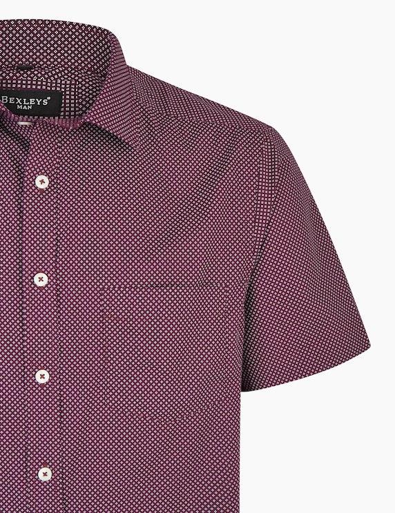 Bexleys man Freizeithemd mit Alloverprint, MODERN FIT | ADLER Mode Onlineshop