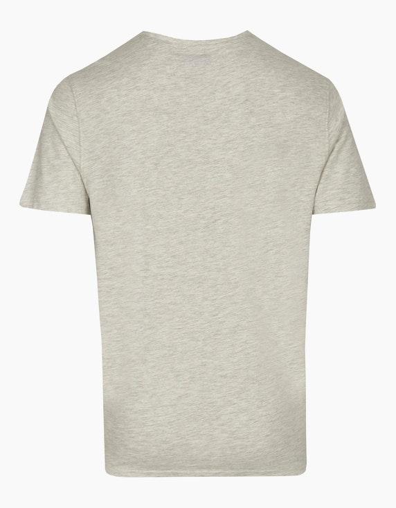 Bexleys man Meliertes T-Shirt mit platziertem Druck | ADLER Mode Onlineshop