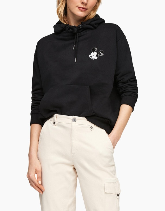 s.Oliver Hoodie mit Mickey Mouse-Patch | ADLER Mode Onlineshop