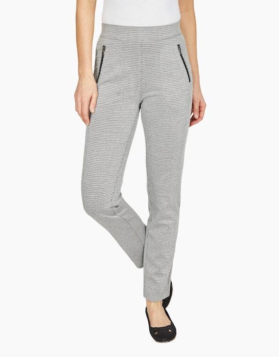 Bexleys woman Jacquard-Jersey-Hose mit Reißverschlusstaschen | ADLER Mode Onlineshop