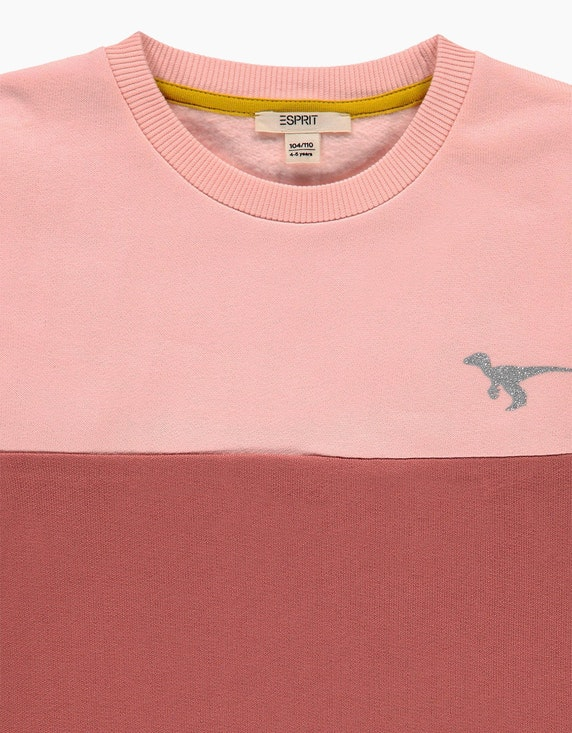 Esprit Mini Girls Colorblock-Sweatshirt mit Glitzer-Print   ADLER Mode Onlineshop