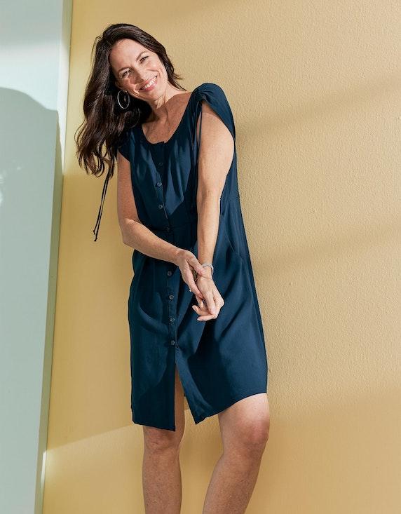 Bexleys woman Viskose-Kleid mit Knopfleiste und gelegten Falten   ADLER Mode Onlineshop