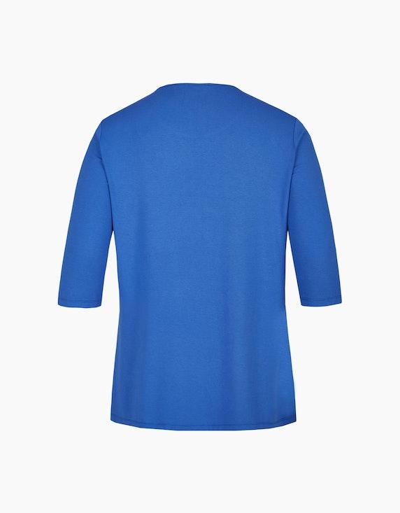 Thea Shirt mit Strassmotiv und Ärmeln in 3/4 Länge   ADLER Mode Onlineshop