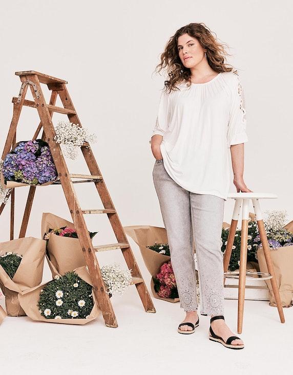 Thea Shirt mit Spitze an den Ärmeln   ADLER Mode Onlineshop