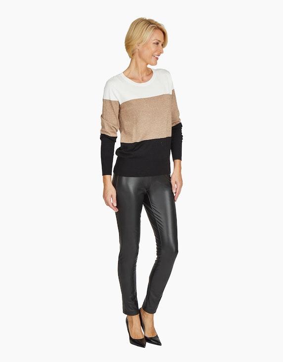 Steilmann Woman Lederimitathose mit breitem Bund | ADLER Mode Onlineshop