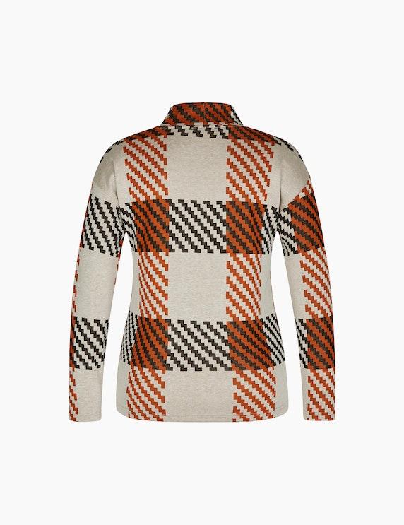 Bexleys woman Jacquard-Shirt mit Stehkragen | ADLER Mode Onlineshop