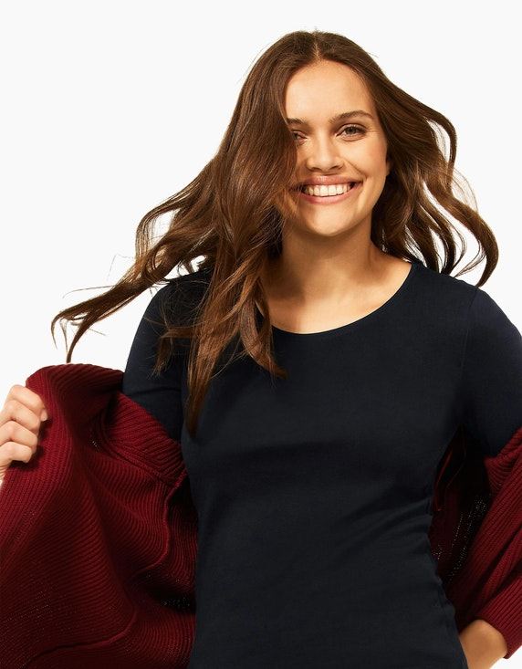 CECIL Basic-Shirt aus Bio-Baumwolle, Style Pia | ADLER Mode Onlineshop
