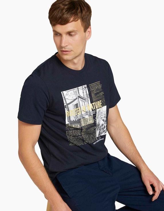 Tom Tailor Fotoprint T-Shirt mit Bio-Baumwolle | ADLER Mode Onlineshop