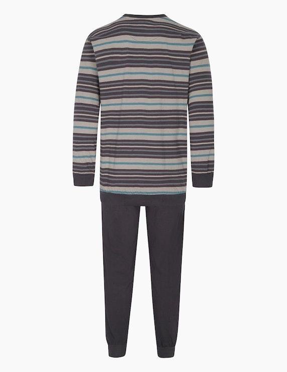 NORMANN Pyjama mit Rippbündchen am Beinabschluss | ADLER Mode Onlineshop