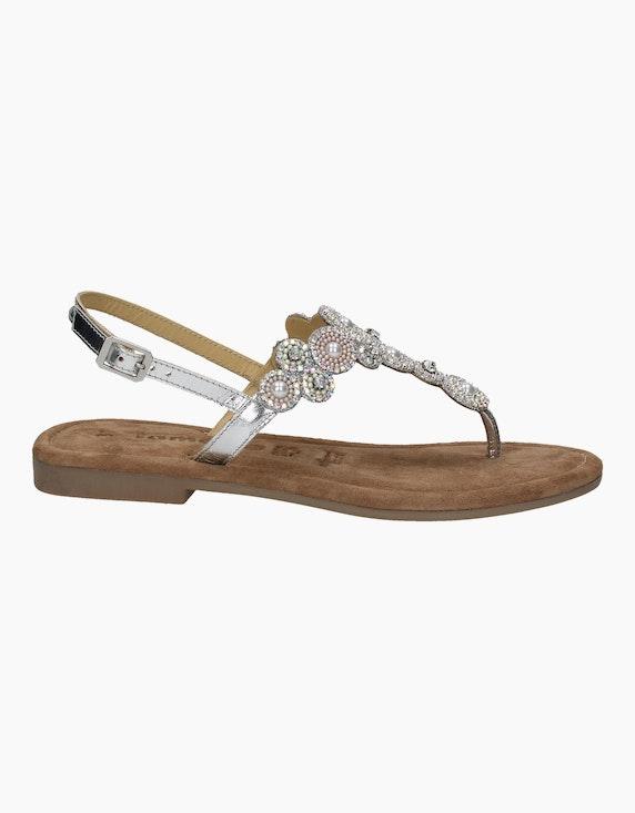 Tamaris Sandale in Silber/Grau | ADLER Mode Onlineshop