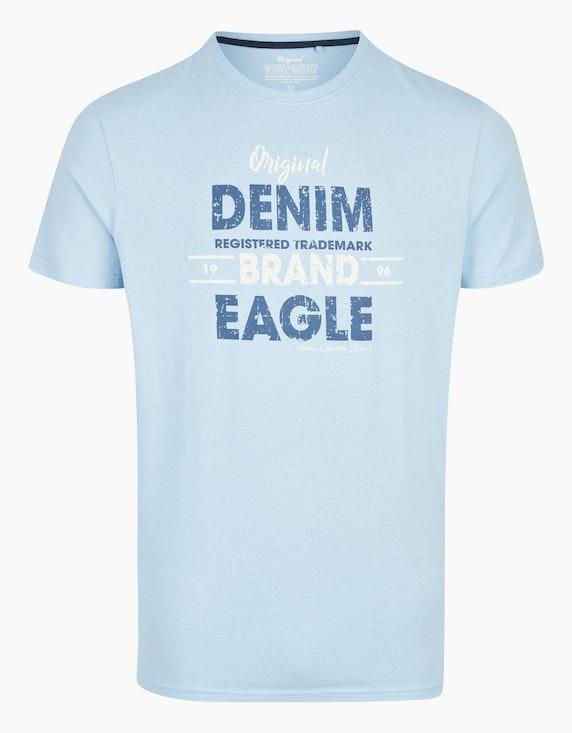Eagle Denim T-Shirt mit Statement-Print in Blau   ADLER Mode Onlineshop