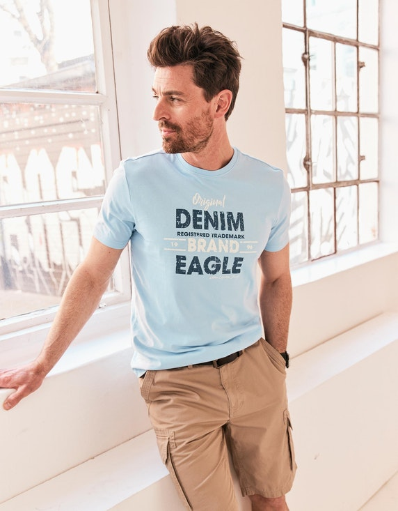 Eagle Denim T-Shirt mit Statement-Print | ADLER Mode Onlineshop
