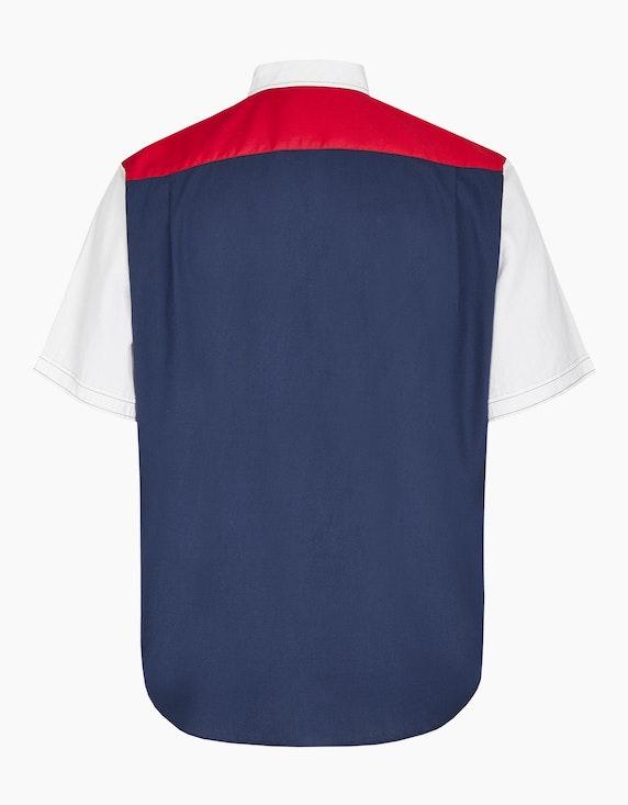 Big Fashion Hemd mit Colorblock und Stickereien | ADLER Mode Onlineshop