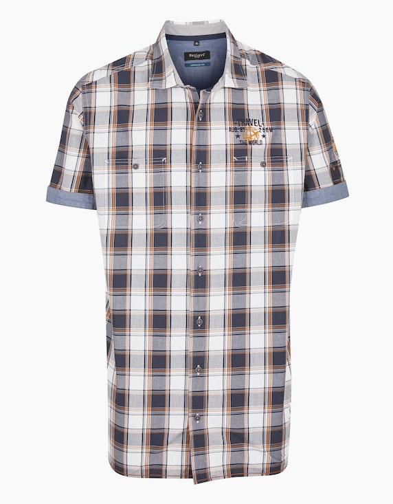 Bexleys man Kariertes Freizeithemd, REGULAR FIT in Blau/Weiß   ADLER Mode Onlineshop