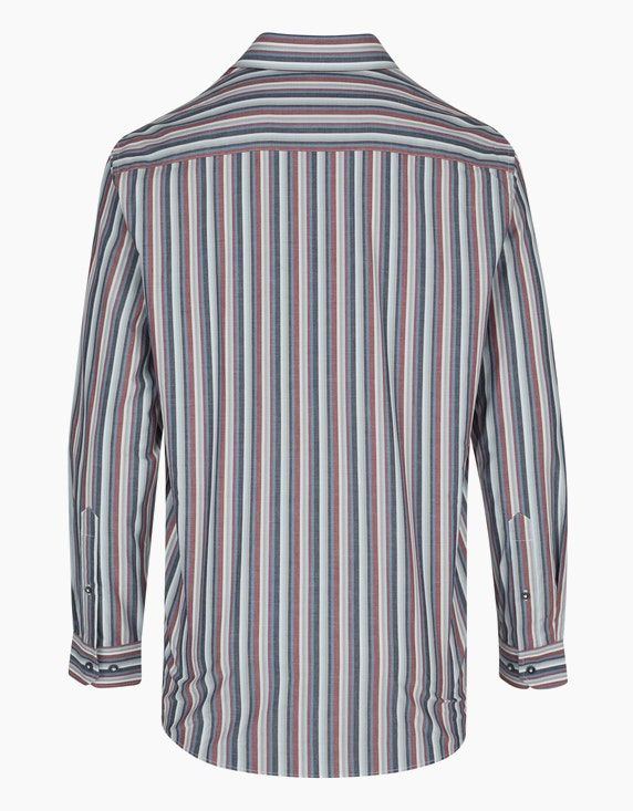 Bexleys man Gestreiftes Hemd mit Bruststickerei, REGULAR FIT | ADLER Mode Onlineshop