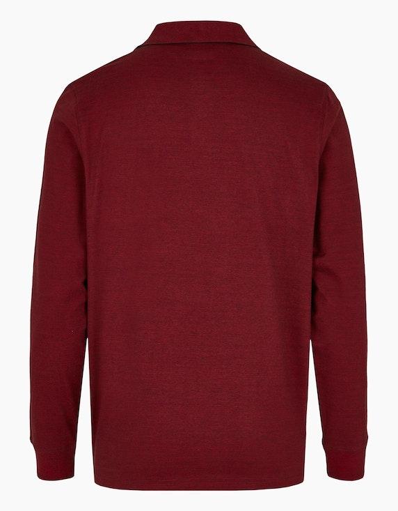 Bexleys man Fineliner Langarm-Poloshirt mit softem Brustprint | ADLER Mode Onlineshop