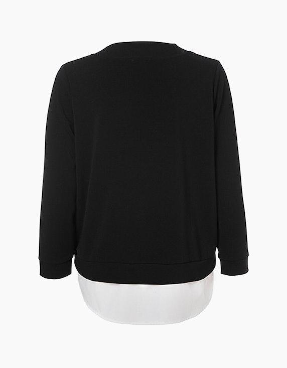 VIA APPIA DUE Sweatshirt mit Blusensaum   ADLER Mode Onlineshop
