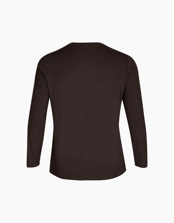 No Secret Langarmshirt mit Fronprint | ADLER Mode Onlineshop