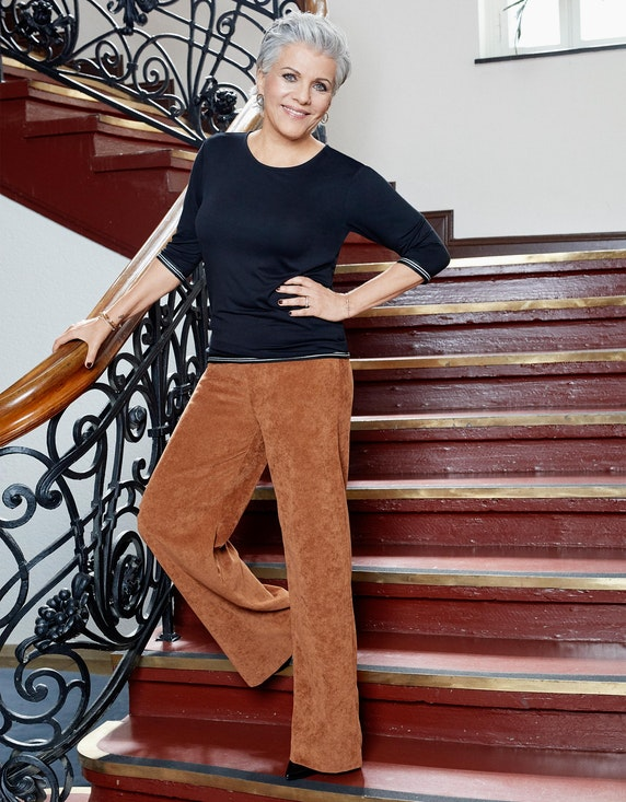 Birgit Schrowange Kollektion Palazzo-Hose in Cord-Optik | ADLER Mode Onlineshop