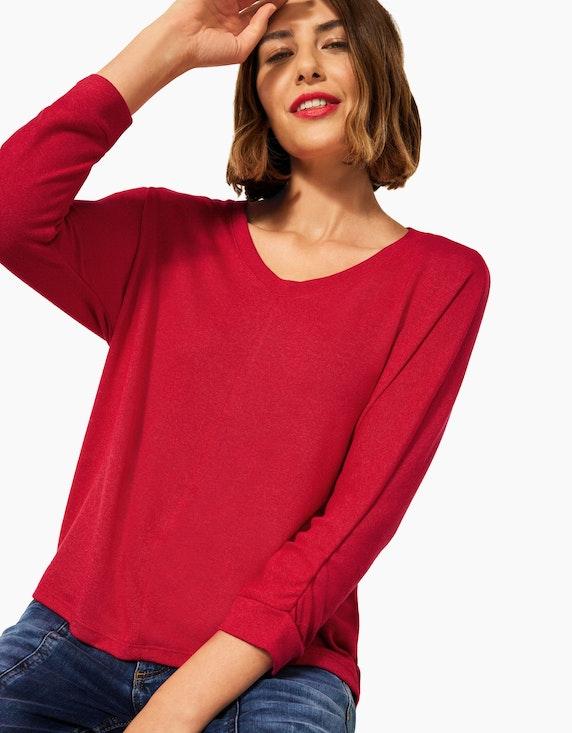 Street One Basic Shirt mit Raffung   ADLER Mode Onlineshop