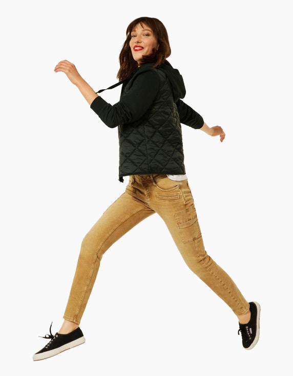 Street One Denim-Jeanshose im Cargo-Style, Slim Fit   ADLER Mode Onlineshop