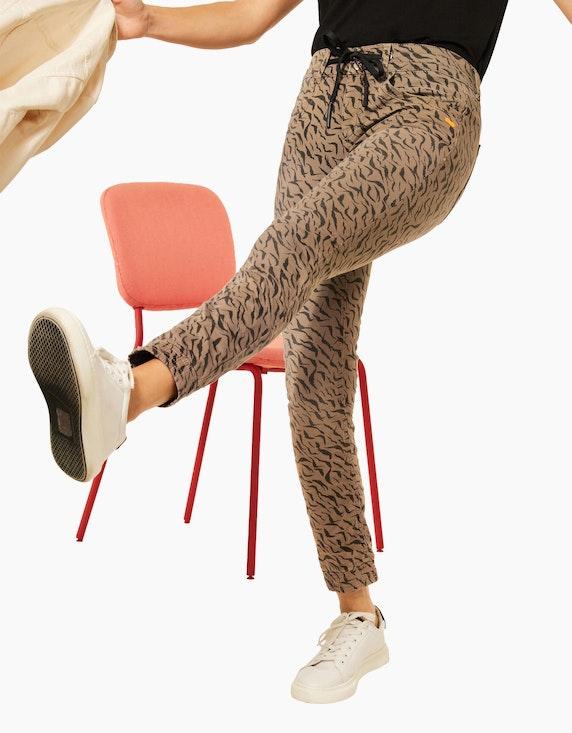Street One Hose im Denim-Style mit Animal-Print | ADLER Mode Onlineshop