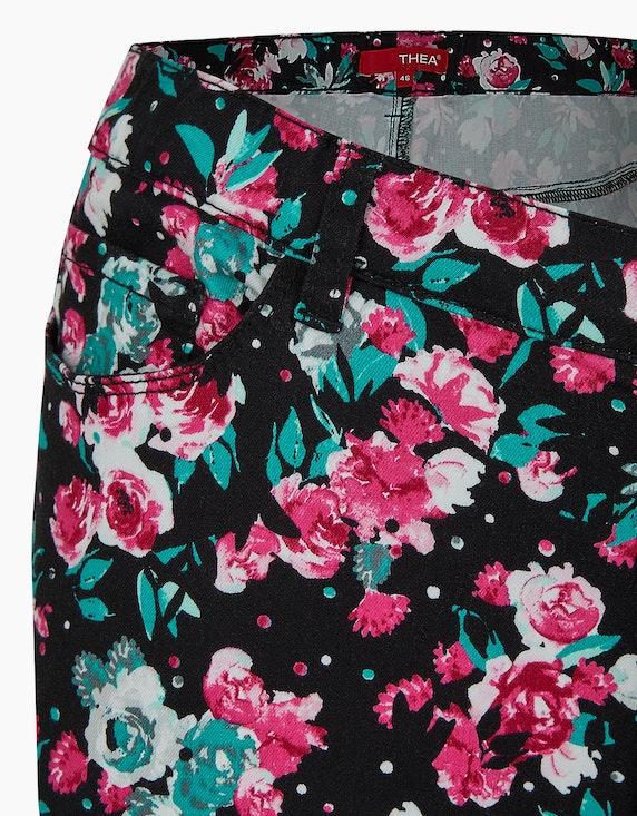 Thea Hose mit floralem Druck | ADLER Mode Onlineshop