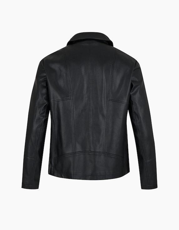 Thea Biker-Jacke in Lederimitat mit Zierdetails   ADLER Mode Onlineshop